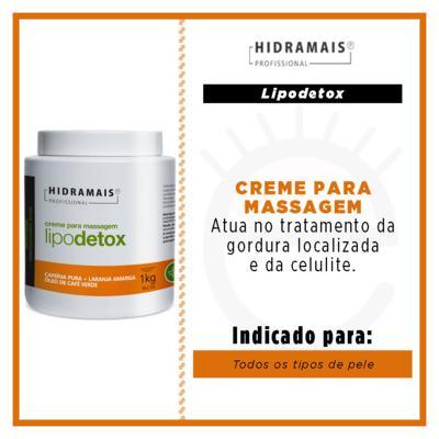 Imagem 2 do produto Creme para Massagem Hidramais - Lipodetox - 1Kg