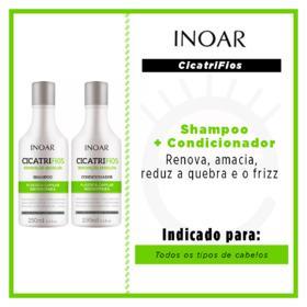 Kit Shampoo + Condicionador Inoar Duo Cicatrifios - 2x 250ml