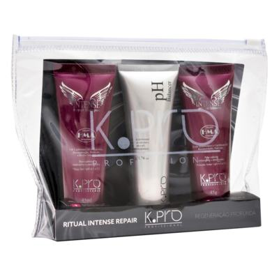 Imagem 1 do produto K-Pro Ritual Intense Repair Kit - Shampoo + pH Balancer + Condicionador - Kit