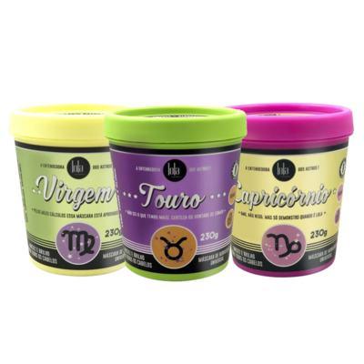 Imagem 1 do produto Lola Cosmetics Signos da Terra Kit - Máscara Capricórnio + Máscara Touro + Máscara Virgem - Kit