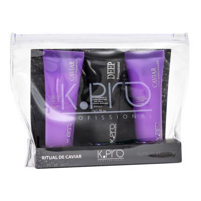 Imagem 1 do produto K-Pro Ritual de Caviar Kit - Shampoo + Resconstrutor + Condicionador - Kit