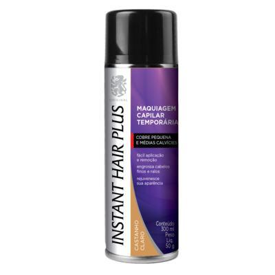 Imagem 1 do produto Maquiagem Capilar Temporária Instant Hair Plus - Castanho Claro