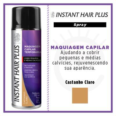 Imagem 4 do produto Maquiagem Capilar Temporária Instant Hair Plus - Castanho Claro