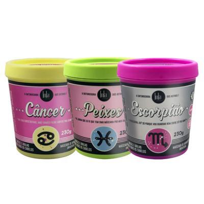 Imagem 1 do produto Lola Cosmetics Signos  de Água Kit - Máscara Câncer + Máscara Peixe + Máscara Escorpião - Kit