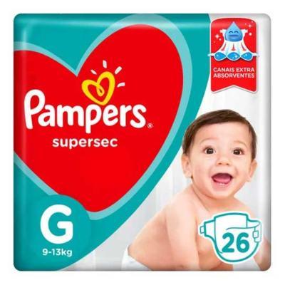 Imagem 1 do produto Fralda Pampers SuperSec G 26 unidades