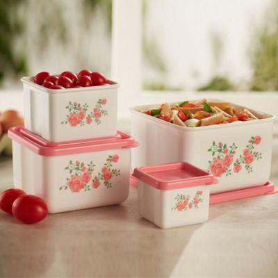 Kit 4 Potes Innovaware Rosas