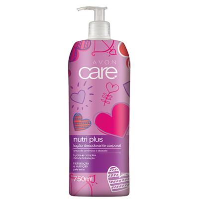 Imagem 1 do produto Loção Desodorante Corporal Avon Care Nutri Plus Amêndoa e Abacate Coração - 750ml