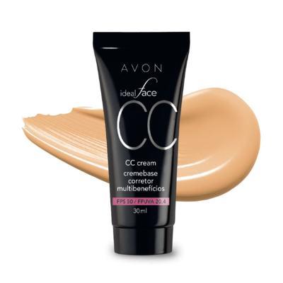 Imagem 1 do produto CC Cream Avon Creme Base Corretor Multibenefícios FPS 50 30ml
