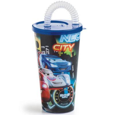 Imagem 1 do produto Copo com Canudo Carros
