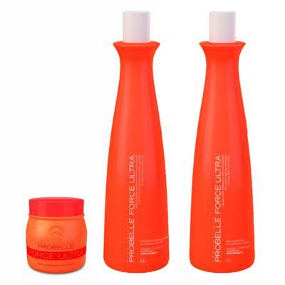 Imagem 2 do produto Probelle Force Ultra Kit - Shampoo + Condicionador + Máscara - Kit