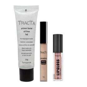 Tracta Lipgloss + HD + Matte Kit- Primer + Corretivo Claro + Gloss - Kit