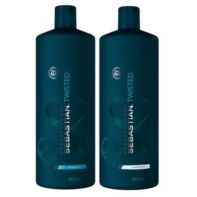 Imagem 1 do produto Kit Twisted Elastic Detangler Sebastian - Shampoo + Condicionador - Tamanho Profissional - Kit