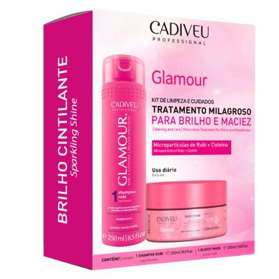 Imagem 1 do produto Cadiveu Glamour Kit - Shampoo + Máscara Capilar - Kit