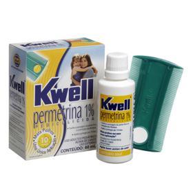 Kwell - 10mg/g, caixa com 1 frasco com 60mL de emulsão de uso capilar - 60mL