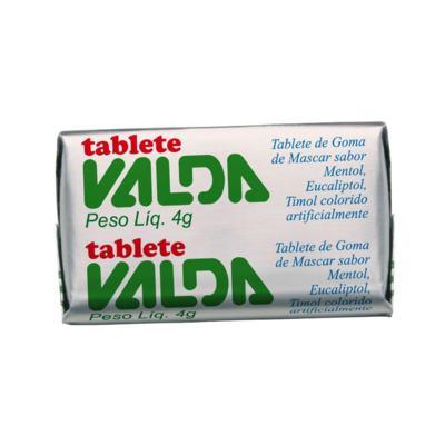 Goma de Mascar Tablete Valda - Mentol-Eucalipto e Timol | 4g