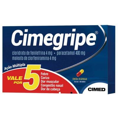 Imagem 1 do produto Cimegripe   Cimed - 400mg   20 capsulas