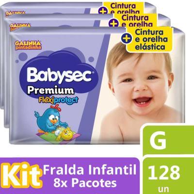 Imagem 1 do produto Kit Fralda Babysec Galinha Pintadinha Premium G 128 Unidades