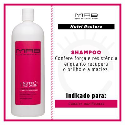 Imagem 2 do produto Shampoo Nutri Restore Tamanho Profissional MAB - 1L