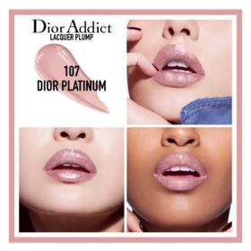 Batom Líquido Dior - Addict Lacquer Plump - 107 Dior Platinum