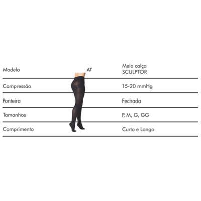 Imagem 8 do produto Meia Calça Sculptor Anti Celulite AT 151A 15-20 Mmhg com Ponteira Fechada Sigvaris - Meia Calça Sculptor Anti Celulite AT 151A 15-20 Mmhg com Ponteira Fechada Sigvaris Normal Preta Grande