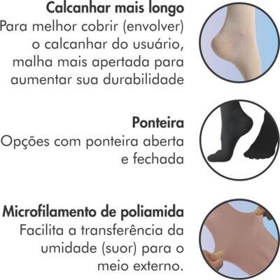 Imagem 4 do produto Meia 3/4 Panturrilha 862 Premium 20-30 Mmhg Ponteira Aberta Sigvaris - Meia 3/4 Panturrilha 862 Premium 20-30 Mmhg Ponteira Aberta Sigvaris Grande Longa Natural Escuro