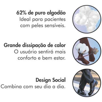 Imagem 5 do produto Meia 3/4 Panturrilha 282 F Cotton Comfort 20-30 Mmhg Ponteira Fechada Sigvaris - Meia 3/4 Panturrilha 282 F Cotton Comfort 20-30 Mmhg Ponteira Fechada Sigvaris Pequena Longa Marrom