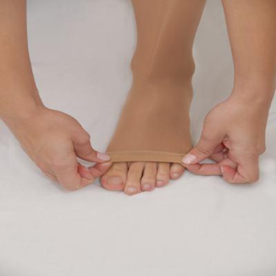 Imagem 3 do produto Meia Calça AT 30-40 mmHg 6000 Venosan - PONTEIRA ABERTA BEGE P