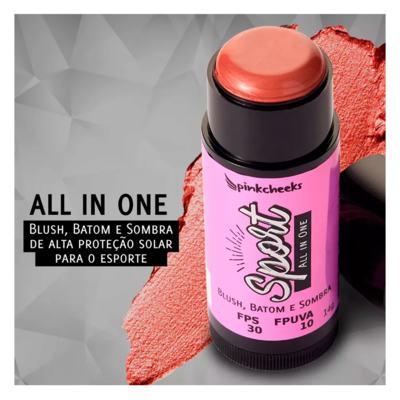 Imagem 5 do produto Blush Multifuncional Pink Cheeks - Sport Make Up Blush All inOne - Soft