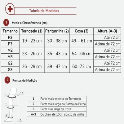 Imagem 11 do produto Meia Calça At 20-30 Comfortline Venosan - Ponteira Aberta Longa Bege P