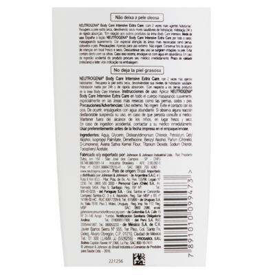 Imagem 14 do produto Hidratante Corporal Neutrogena Body Care Intensive Extra Care - 200ml
