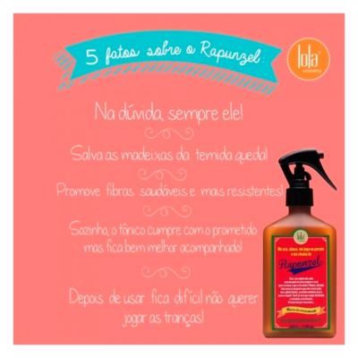 Imagem 5 do produto Lola Cosmetics Rapunzel Tônico do Crescimento - Tratamento Antiqueda - 250ml