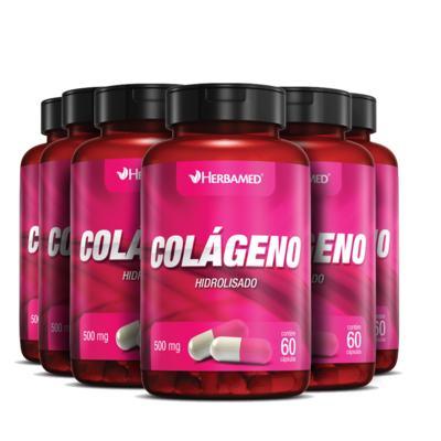 Imagem 1 do produto Colágeno 500mg - 60 Cápsulas - 06 Unidades - Herbamed -
