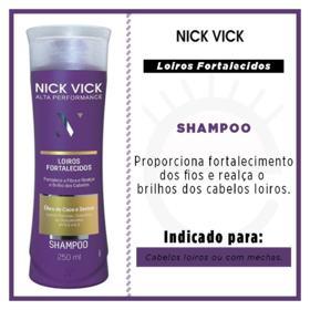 Nick & Vick Loiros Fortalecidos Shampoo Alta Performance - 250ml