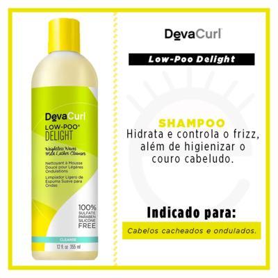 Imagem 3 do produto Deva Curl Delight Shampoo Low-Poo - 355ml