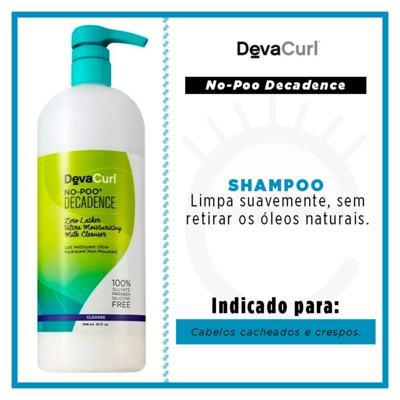 Imagem 3 do produto Deva Curl Decadence Shampoo Sem Espuma No-Poo - 1L