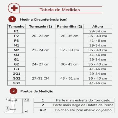 Imagem 3 do produto Meia Panturrilha 20-30 Select Comfort Premium Sigvaris - Curta Natural Ponteira Aberta M