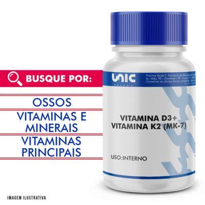 Imagem 1 do produto VITAMINA D3 + VITAMINA K2 (MK-7) - 90 Cápsulas