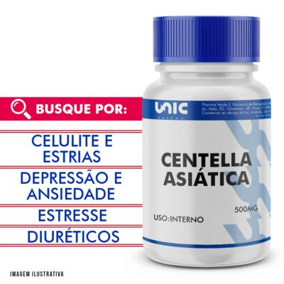 Imagem 1 do produto Centella Asiatica 500mg - 120 Cápsulas