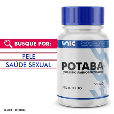 Imagem 1 do produto Potaba (potássio Aminobenzoato) 500mg - 90 Cápsulas