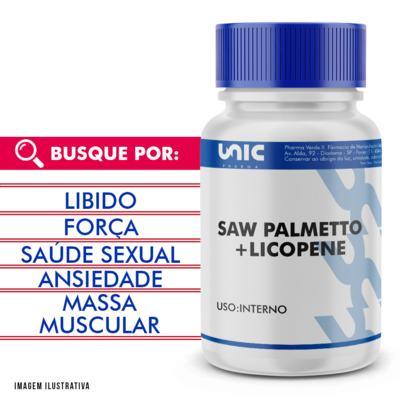 Imagem 1 do produto Saw Palmetto + licopene - 120 Cápsulas