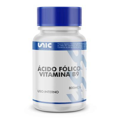 Imagem 2 do produto Vitamina B9 (Ácido Fólico) 800mcg - 90 Cápsulas