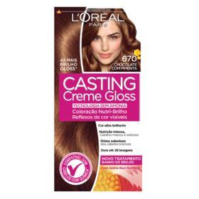 Coloração Creme L'Oréal Paris Casting Creme Gloss - 670 Chocolate Com Pimenta | 1 unidade