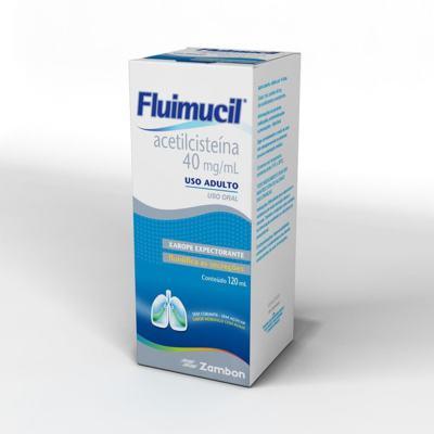 Imagem 4 do produto Fluimucil Xarope Expectorante Pediátrico Sabor Framboesa 20mg/mL 120mL - 120mL