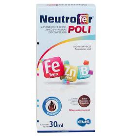 Neutrofer Poli - caixa com 1 frasco com 30mL de suspensão de uso oral - 30mL