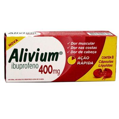 Alivium - 400mg   8 cápsulas líquidas
