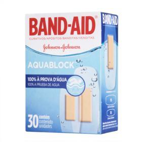 BAND-AID Aquablock - Plus 100% Prova D'Água | 30 unidades