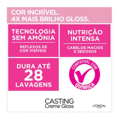 Imagem 6 do produto Coloração Casting Creme Gloss L'Oréal Paris - 200 preto