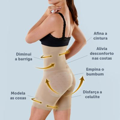 Imagem 20 do produto Shapenow Polishop + Modelador Slim Control Be Emotion - | Shapenow Preto + Slim Control Nude G+G