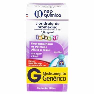 Cloridrato de Bromexina Xarope Infantil Genérico Neo Quimica - 0,8mg/ml   120ml