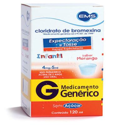 Cloridrato de Bromexina Xarope Adulto Genérico Nova Quimica - 1,6mg/ml | 120ml